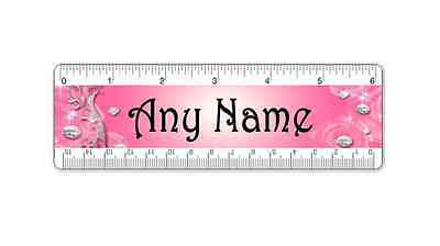 personalised ruler - Add your name - Double Sided - School Stationery - Pink 2