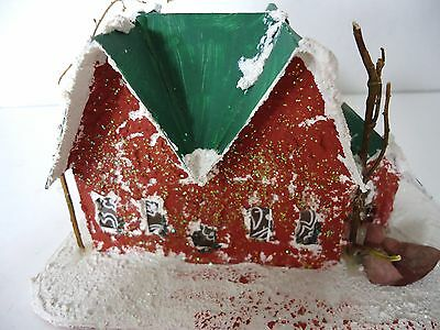 Vintage Christmas Putz Village House - from the 40's - 50's