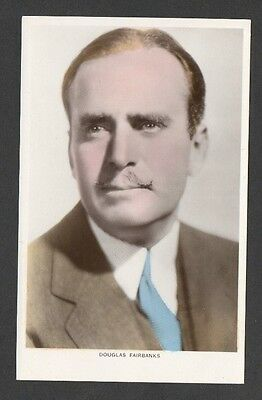 Douglas Fairbanks Picturegoer Colourgraph Series Film Star Actor Postcard C 50