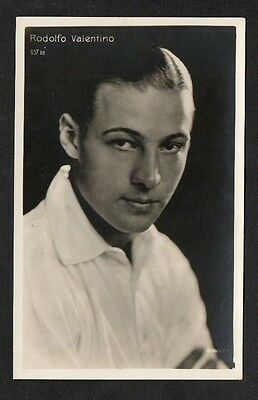 Rudolph Valentino Italian Bologna Series Actor Cinema Star Postcard. No. 657