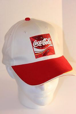 COCA COLA COKE Cap Hat Adjustable White with Red