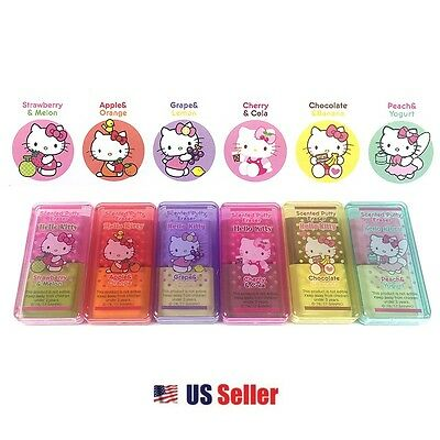 Sanrio Hello Kitty Scented Putty Erasers : 6 Erasers (Total of 12 Scents)