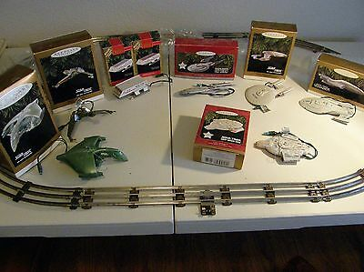 8 Star Trek Xmas Ornaments 7 Different Original Boxes & Papers Nice