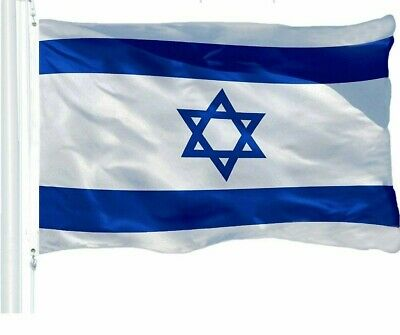 G128 - 3' x 5' ft Israel Flag 150D Quality Polyester