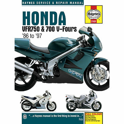Honda VFR700 VFR750 V-Fours 1986-97 Haynes Workshop Manual