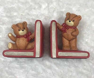 Enesco Imports Vintage 1984 Lucy And Me Bear Book End Set