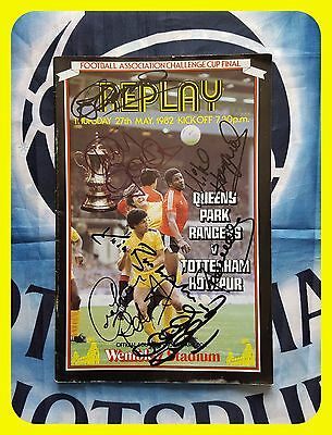TOTTENHAM HOTSPUR 1982 FA Cup Replay Final Programme signed x9 CLEMENCE Ardiles+