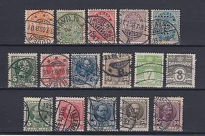 Denmark 1882-1907 Early Stamps Used Hinged No Gum (#1747)