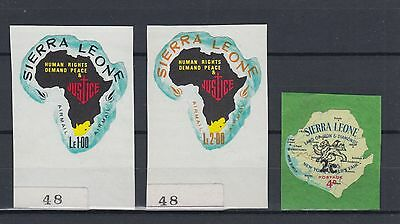 Sierra Leone 1964-68 Stamps Mint Hinged on Paper Backing (#695)