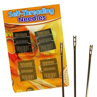 Pack of 24 Self Threading Needles Set Sewing Art Craft DIY USE 6005