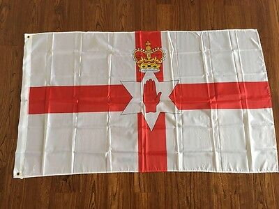 Northern Ireland Red Hand Of Ulster Flag 5X3FT