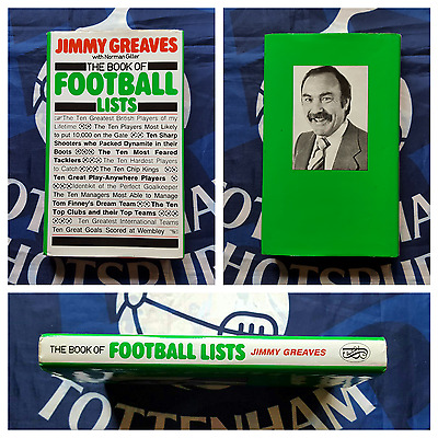 TOTTENHAM HOTSPUR Signed x3 JIMMY GREAVES MULLERY C.ALLEN Book Of Football Lists
