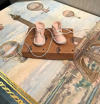 Blythe Doll Boots - Handmade Pink Coloured Faux Leather With Shoebox