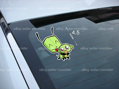 invader zim with monkey gir decal cartoon *free ship