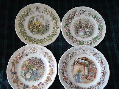 """Set of Brambly Hedge """"4 Seasons, Afternoon Tea Plate"""" (1980's) Perfect condition"""