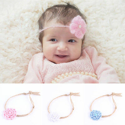 Newborn Hair Band Crochet Headwear Kid Handmade Girl Baby Headband Acrylic