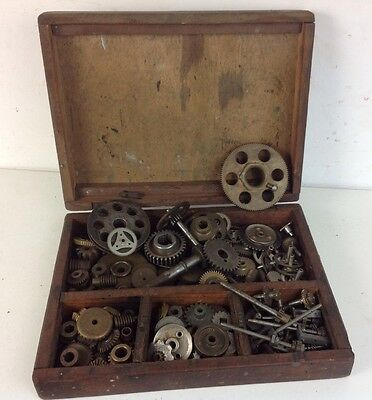 Large Job Lot Vintage Brass Cogs Wheels Worms Engineering Parts Gears Meccano