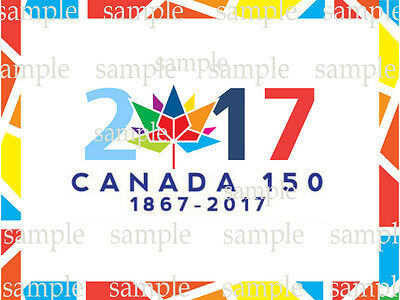 CANADA DAY 150 Birthday Edible CAKE Photo Image Icing Topper Free Shipping