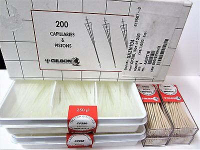 Gilson (200 Count) Capillaries and Pistons CP250 250μL Microman Pipette