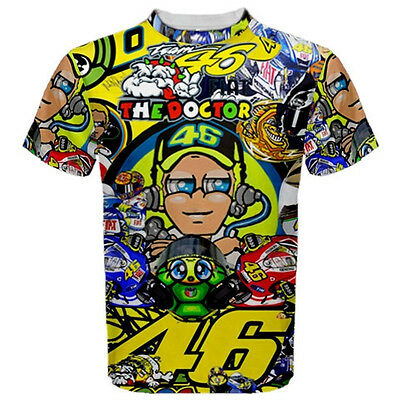 Valentino rossi VR46 t-shirt-moto neuf  Taille: XL