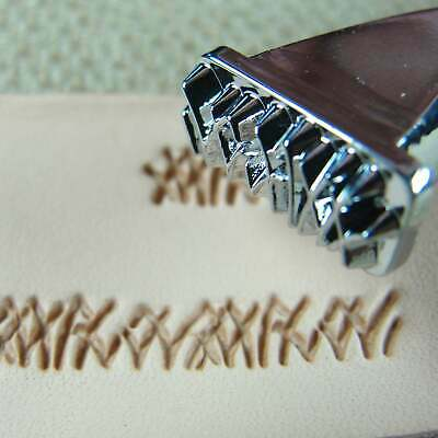 Leather Stamping Tool - F111 Short Grass Stamp