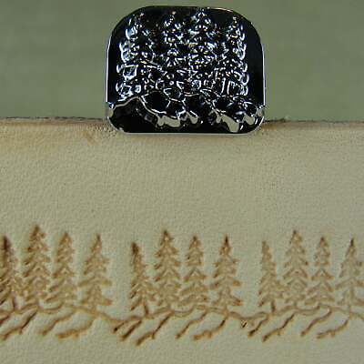 Leather Stamping Tool - F110 Pine Trees Stamp