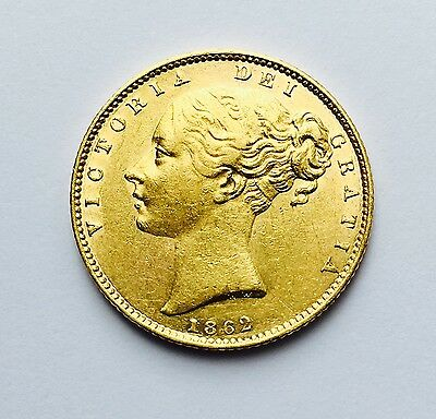 1862 Queen Victoria 'WW' Shield-back Full Sovereign Gold Coin