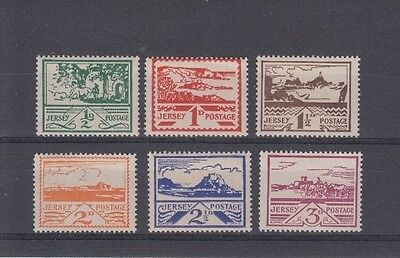 Jersey 1943 First Pictorial Definitives 6 Cpl Mnh Superb