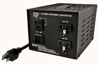 VCT VT-2000J Japanese Step Up/Down Voltage Transformer Converter