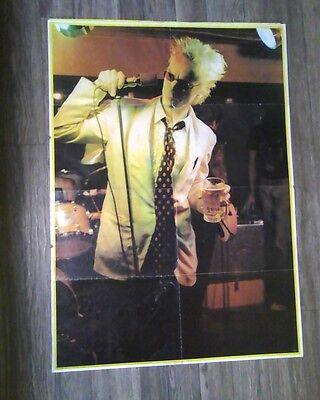 vintage 1978 johnny rotten big o poster sex pistols pretty used