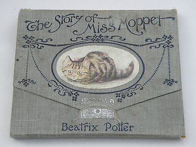RARE CONCERTINA WALLET 1st EDITION THE STORY OF MISS MOPPET by BEATRIX POTTER