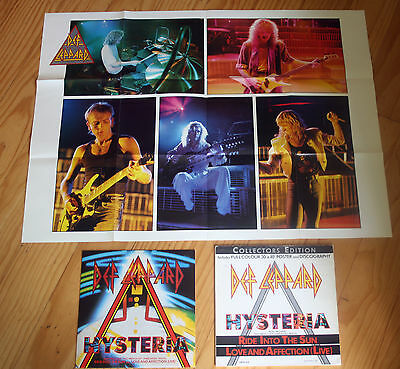 "Def Leppard Hysteria 12"" Limited Edition Collectors Edition + Poster (Lepx 313)"