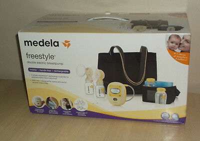 Medela Hands Free Freestyle Deluxe Set Double Electric Breastpump Shoulder Bag