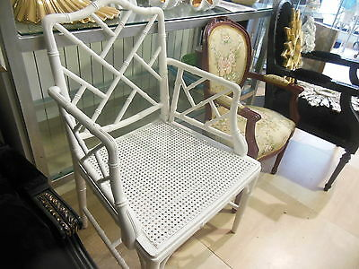 Armchairs faux bamboo chippendale chinoiserie 70s 7sillas falso bambu