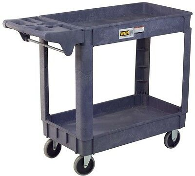 2 Shelf Utility Rolling Service Cart and Storage, Total Capacity 500 lbs