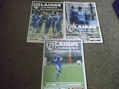 2016/17 Cammell Laird 1907 Programme Collection X 3 North West Counties League