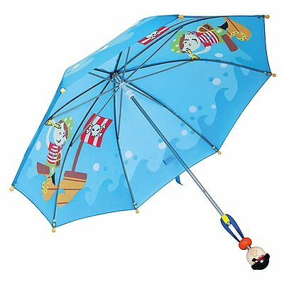 childrens pirate umbrella with wooden pirate handle