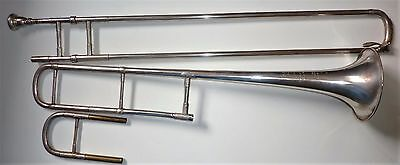 Antique French silver plated Trombone marked ANTOINE COURTOIS & MILLE