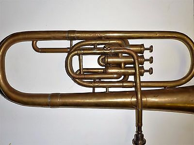 Antique Brass T. Dawkins London Baritone Horn