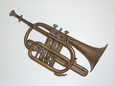 antique brass cornet for spare or restoration BOOSEY & CO. CLASS B LONDON