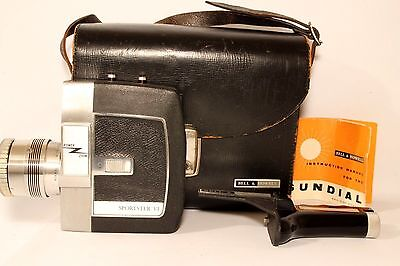 Bell & Howell Sportster Vi 8 Mm Film Cine Camera + Case Good Working Cond (Used)