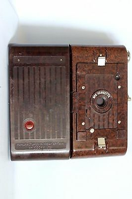 UNUSUAL KODAK No 2 HAWKETTE FOLDING CAMERA 120 ROLLFILM C 1930 +CASE GOOD (USED)