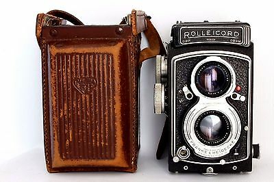 Rolleicord V K3D Tlr Camera With 75 Mm 1:3.5 Xenar Lens +Case Fair Cond . Issues
