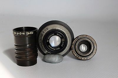 Job Lot Of 3  Vintage Lenses , Wetzler , Taylor-Hobson , Nomo Projector (Used)