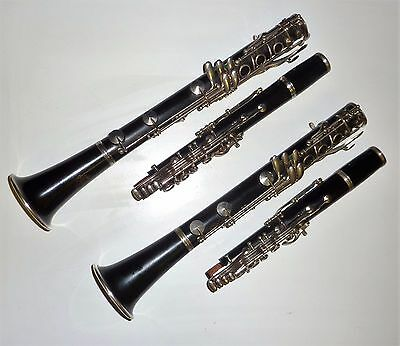 Beautiful Leblanc III Paris Made in France clarinets Pair A & Bb Full Boehm