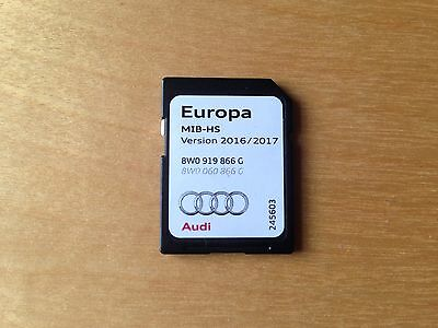 Genuine Audi MMI Sat Nav Satellite Navigation Europe SD Card 2016/17 8W0919866G