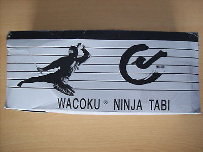 Boots Wacoku Traditional Outdoor Ninja Tabi Boots Black UK Size 11 New + Boxed