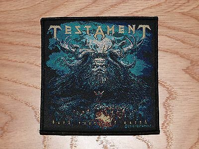 Testament - Dark Roots Of Earth  (New) Sew On W-Patch Official Band Merch