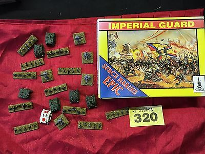 Warhammer Epic 40K Plastic Imperial Guard Troops and Rhino APCs RY 320