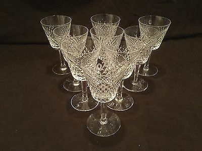 Set Of 9 Waterford Crystal Alana Claret Wine Glasses